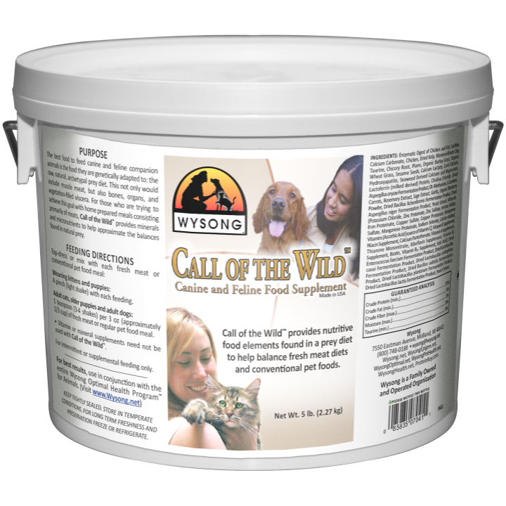 Call Of The Wild Dog Cat Suppplement For Heigh Protein Diet Wysong