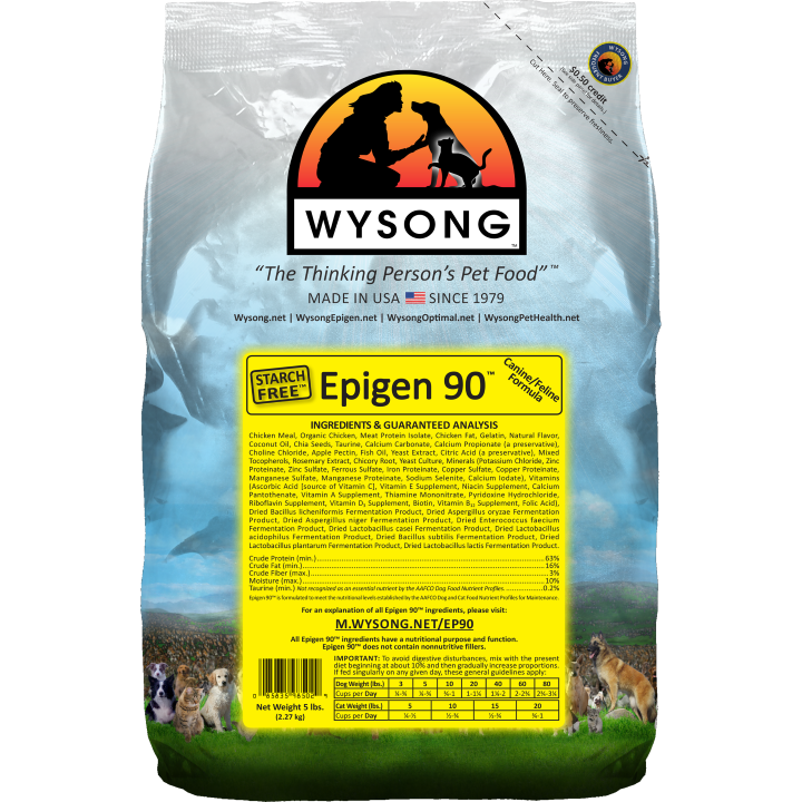 Epigen 90 is the first extruded dry diet/kibble food that is Starch Free™ (Epigen™ does what